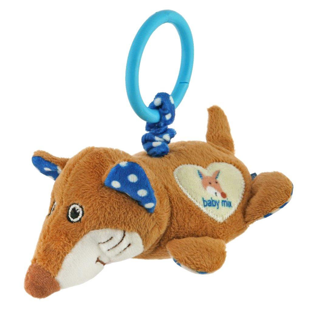 Plyšová hračka s vibrací Baby Mix liška - modrá