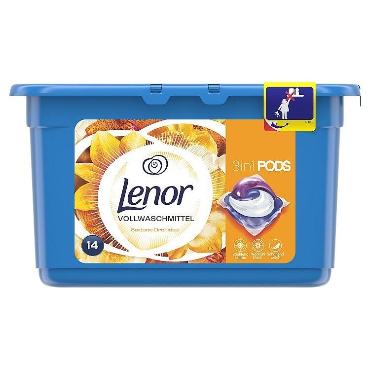 Lenor Silk Orchid 3v1 tekuté kapsle na praní 13 ks