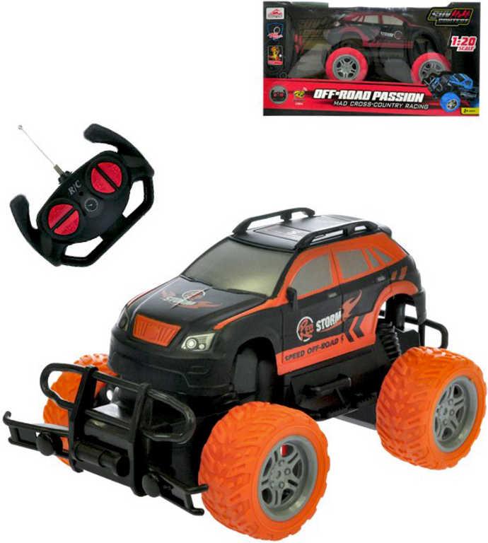 RC Auto off-road 20cm na vysílačku 27MHz velká kola na baterie 1:20 2 barvy