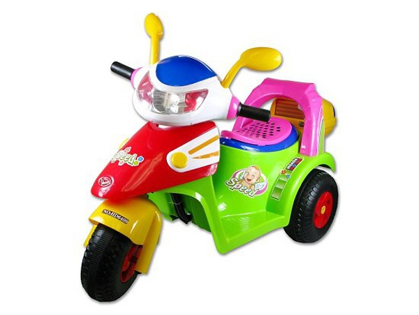 Motorka (skutr) na baterie elektrické vozítko pro děti světlo, zvuk AKCE!