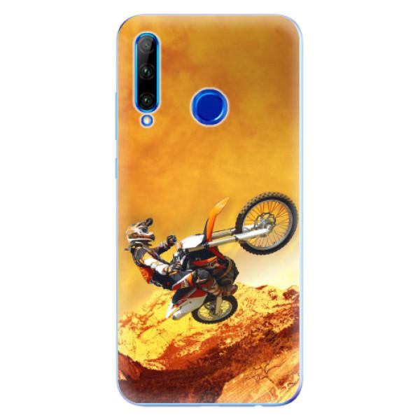 Odolné silikonové pouzdro iSaprio - Motocross - Huawei Honor 20 Lite