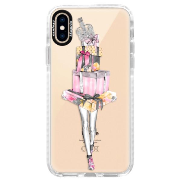 Silikonové pouzdro Bumper iSaprio - Queen of Shopping - iPhone XS
