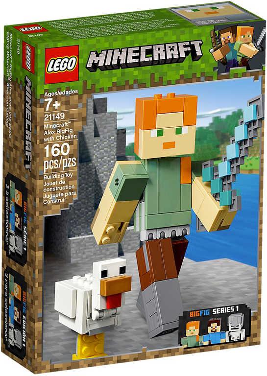 LEGO MINECRAFT Velká figurka: Alex s kuřetem 21149 STAVEBNICE