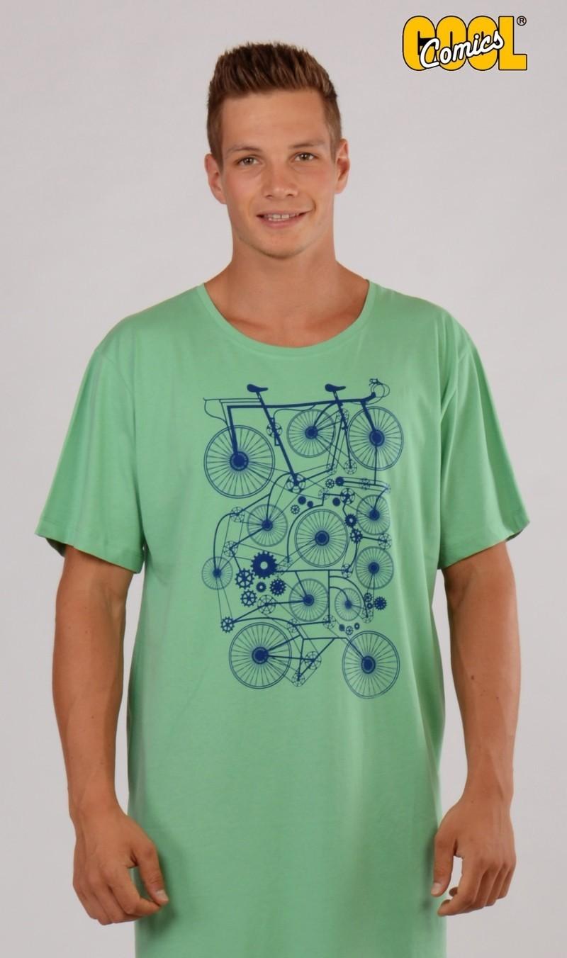 Pánská noční košile s krátkým rukávem Kolo 4610 - Cool comics - Zelená/M