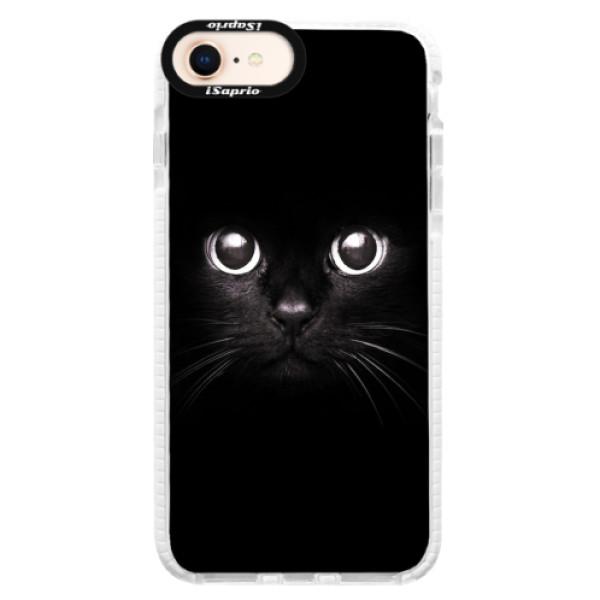 Silikonové pouzdro Bumper iSaprio - Black Cat - iPhone 8