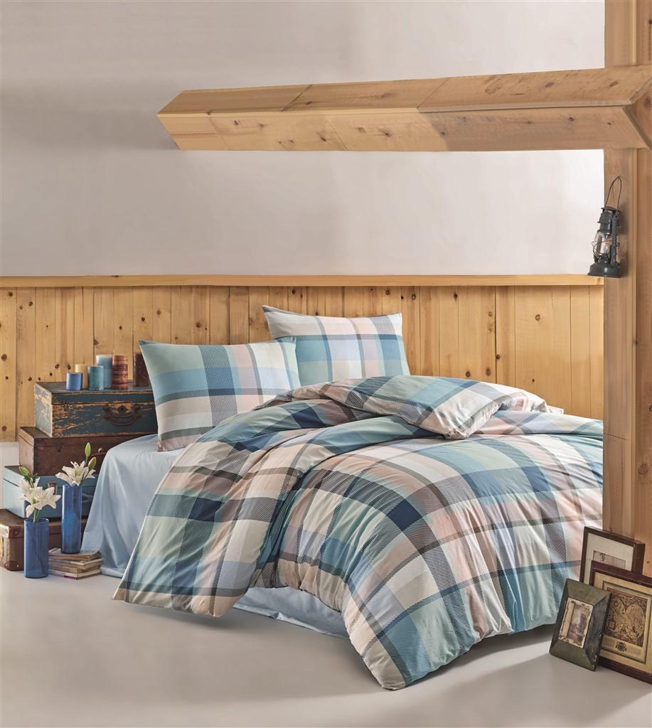 Povlečení bavlna 140x200, 70x90cm Carla blue, Výběr zapínání: