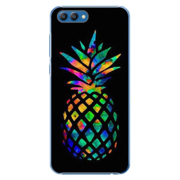 Plastové pouzdro iSaprio - Rainbow Pineapple - Huawei Honor View 10