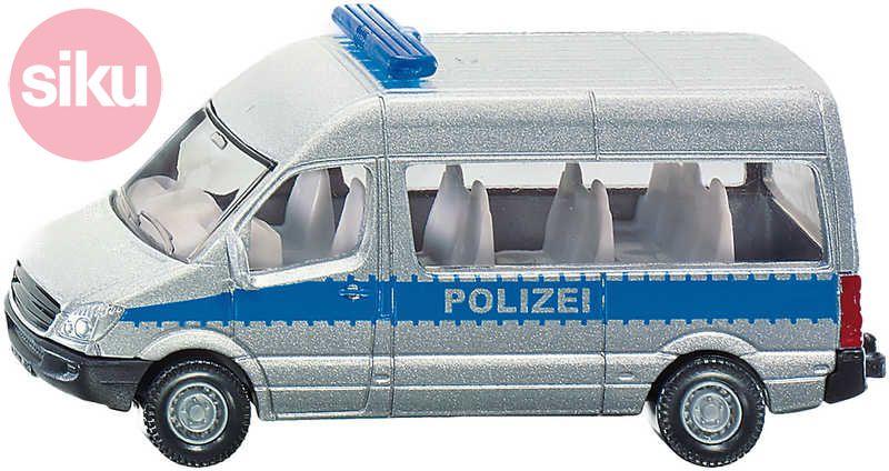 SIKU Blister Mikrobus policejní POLICIE dodávka KOV