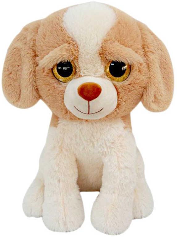 PLYŠ Pes sedící 52cm velké oči *PLYŠOVÉ HRAČKY*