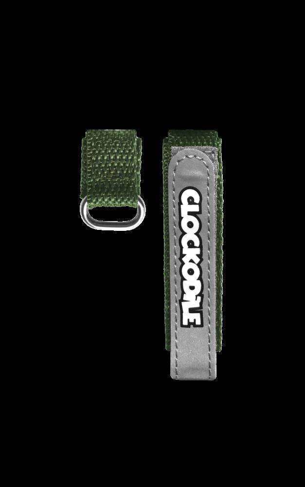 Reflexní zelený řemínek na suchý zip k dětským hodinkám CLOCKODILE