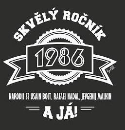 - Pánské humorné tričko - 1986, vel. XXL