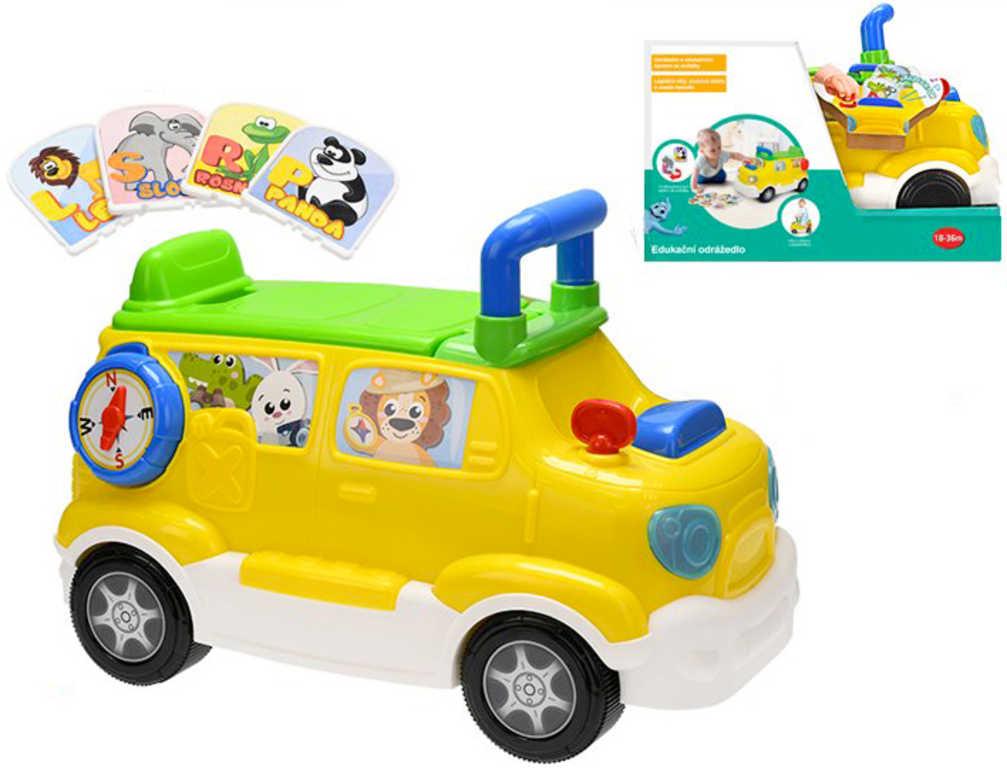 Baby auto edukační odrážedlo česky mluvící CZ na baterie Světlo Zvuk pro miminko
