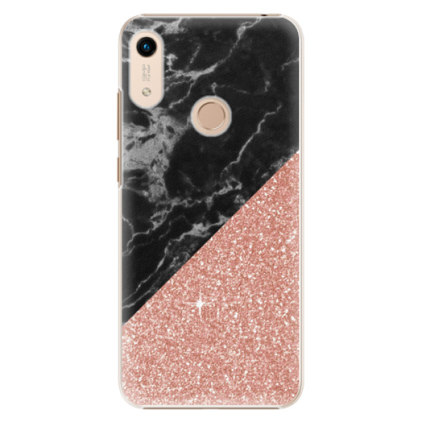 Plastové pouzdro iSaprio - Rose and Black Marble - Huawei Honor 8A