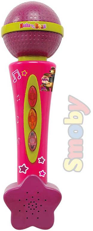 SMOBY Mikrofon dětský 20cm Máša a medvěd zvukové efekty na baterie