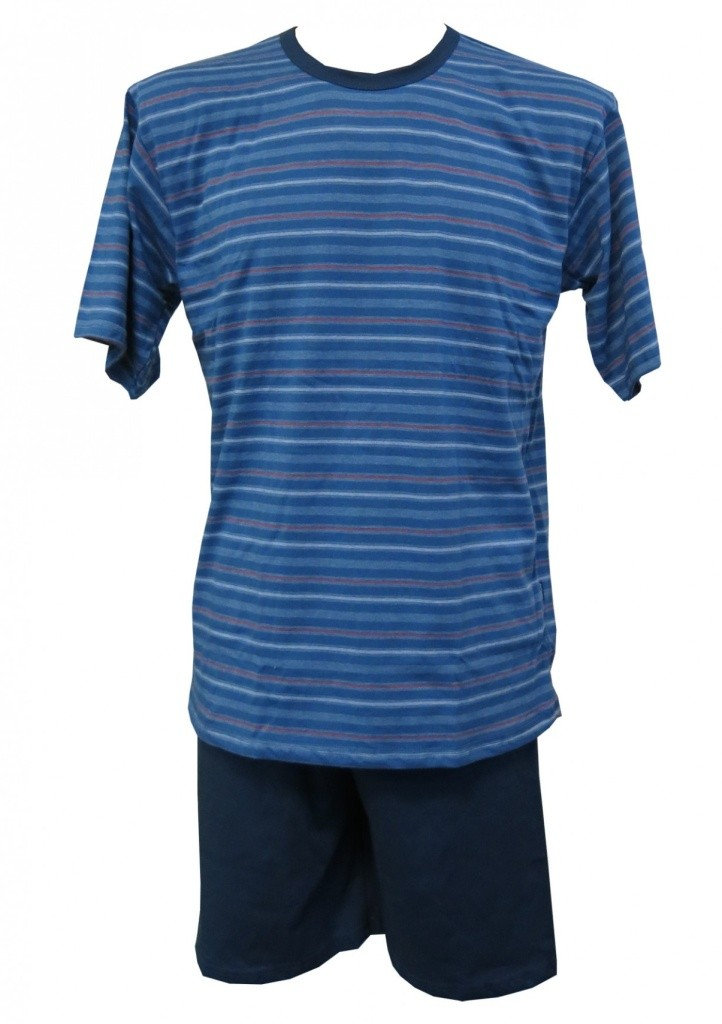 Pánské pyžamo Cornette 338 Various - 3XL/Jeans-modrá