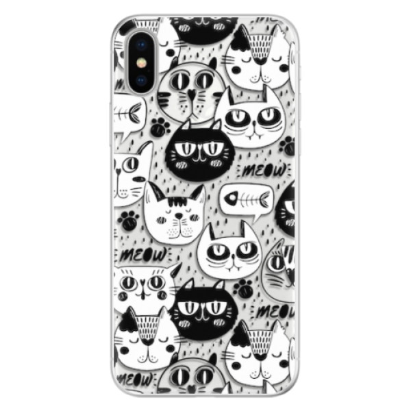 Silikonové pouzdro iSaprio - Cat pattern 03 - iPhone X