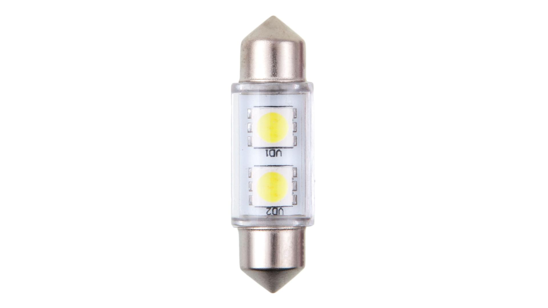 4CARS LED žárovka 2LED 12V Festoon SMD T11x36mm