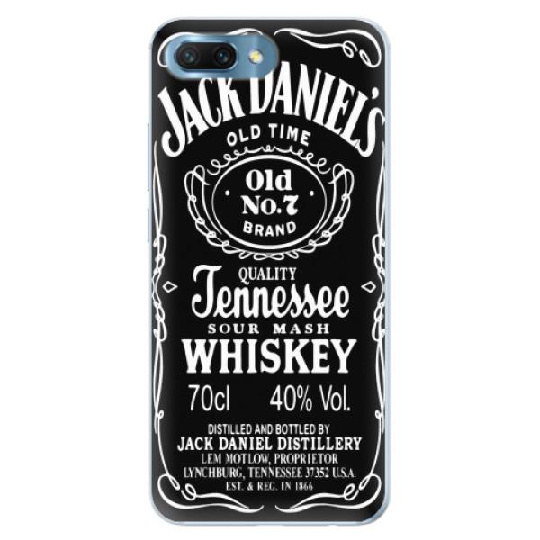 Silikonové pouzdro iSaprio - Jack Daniels - Huawei Honor 10