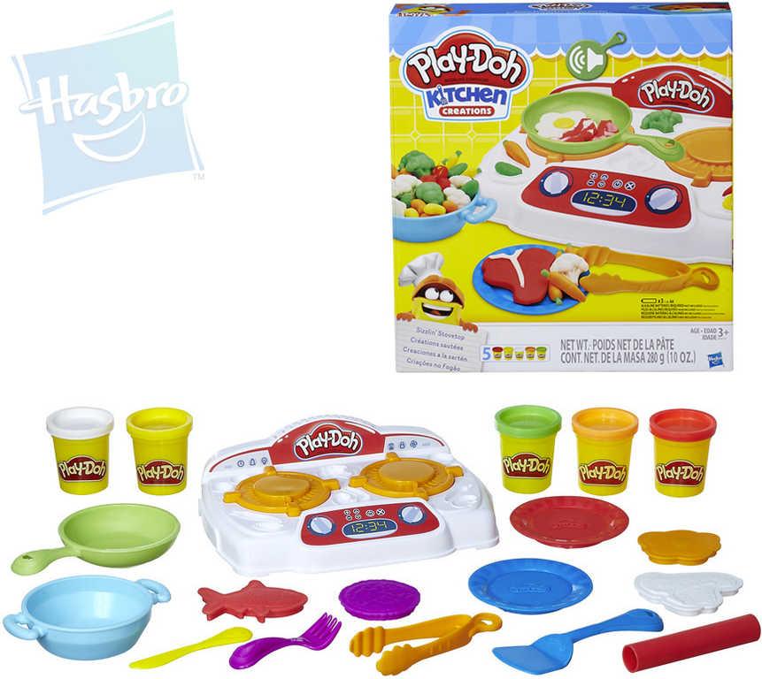 HASBRO PLAY-DOH Vařič smažič dětský set modelína 5 kelímků s doplňky na baterie