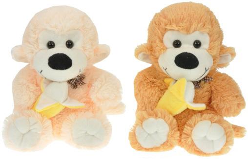 PLYŠ Opice 29 cm s banánem - 2 barvy