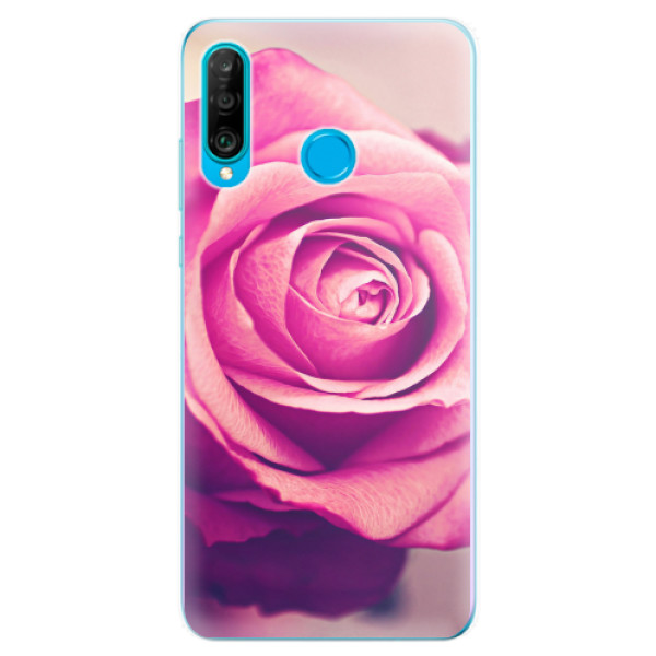Odolné silikonové pouzdro iSaprio - Pink Rose - Huawei P30 Lite