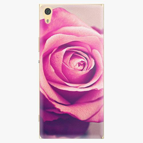 Plastový kryt iSaprio - Pink Rose - Sony Xperia XA1 Ultra