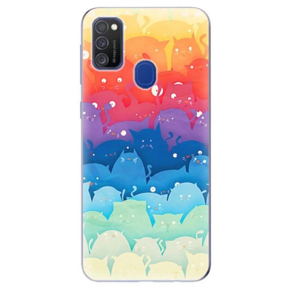 Odolné silikonové pouzdro iSaprio - Cats World - Samsung Galaxy M21