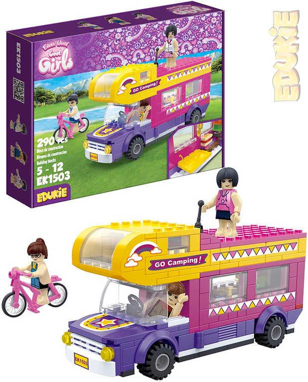 EDUKIE Auto karavan set 290 dílků + 3 figurky STAVEBNICE
