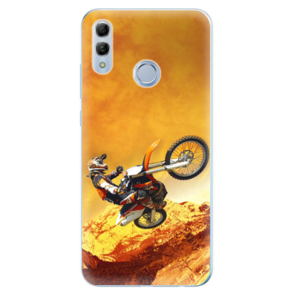Odolné silikonové pouzdro iSaprio - Motocross - Huawei Honor 10 Lite