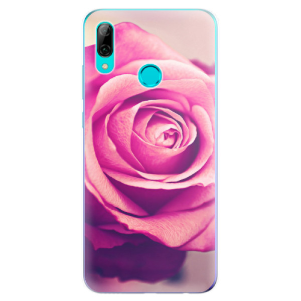 Odolné silikonové pouzdro iSaprio - Pink Rose - Huawei P Smart 2019