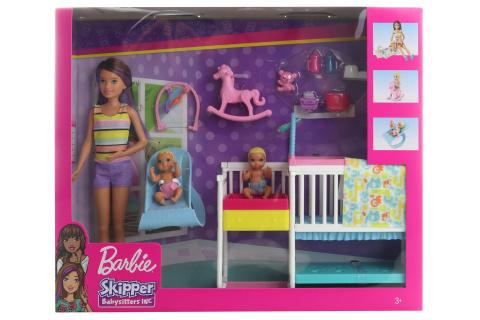 Barbie Herní set dětský pokojík GFL38