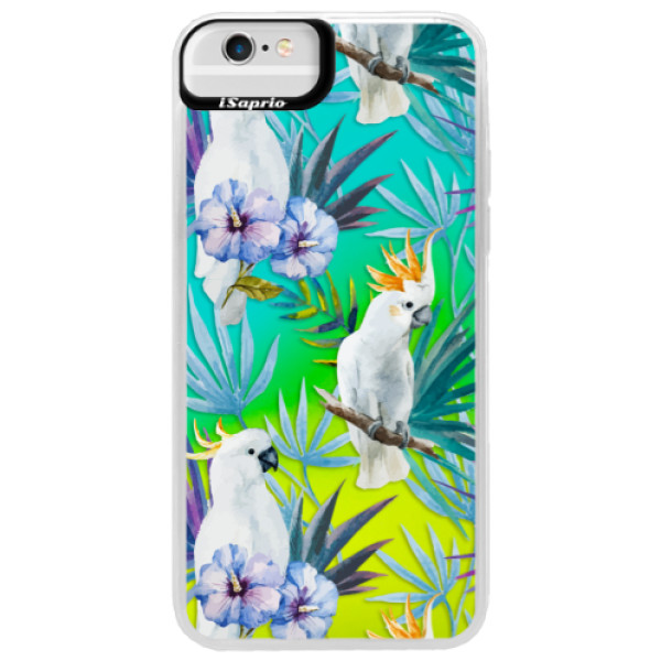 Neonové pouzdro Blue iSaprio - Parrot Pattern 01 - iPhone 6 Plus/6S Plus