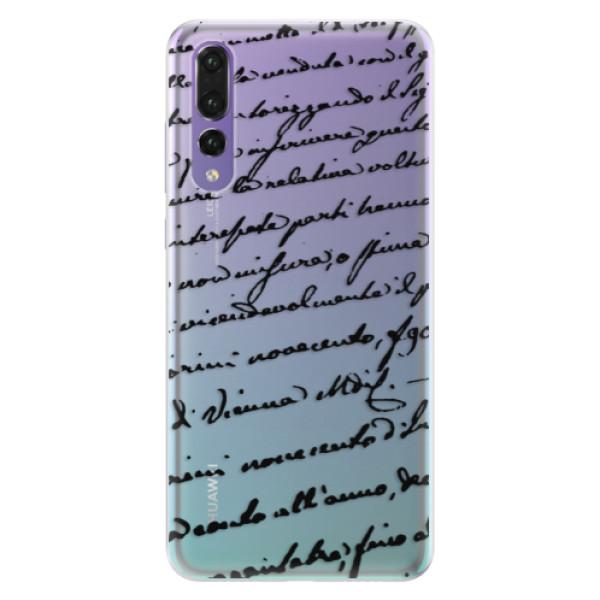 Silikonové pouzdro iSaprio - Handwriting 01 - black - Huawei P20 Pro