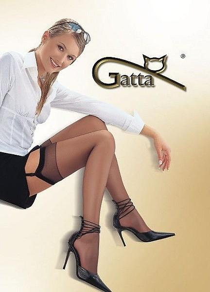 Punčochy k podvazkovému pásu Gatta Sally lycra 15 den