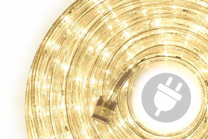 LED světelný kabel - 960 diod, 40 m, teple bílý