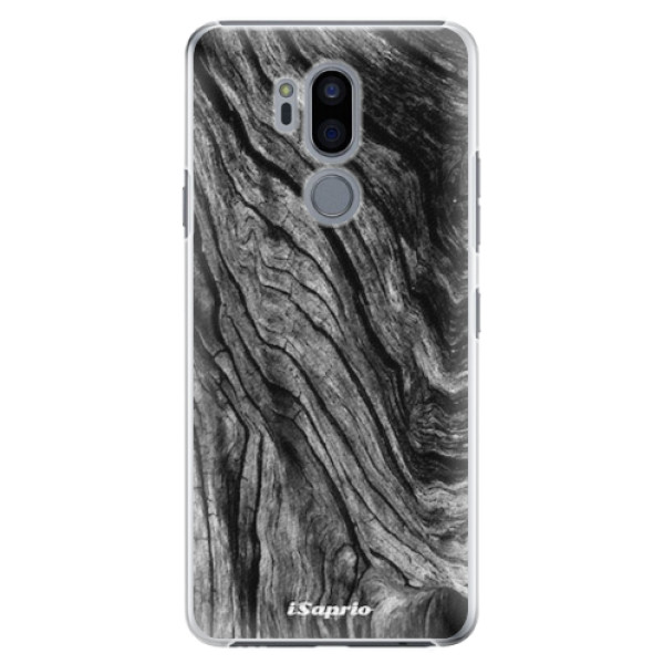 Plastové pouzdro iSaprio - Burned Wood - LG G7