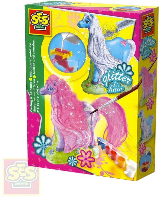 SES CREATIVE Sádrový kůň kreativní set k odlévání z gumové formy