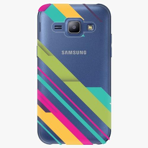 Plastový kryt iSaprio - Color Stripes 03 - Samsung Galaxy J1