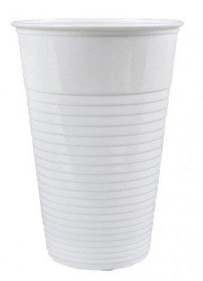 Kelímek 0,5l plastový bílý 50ks