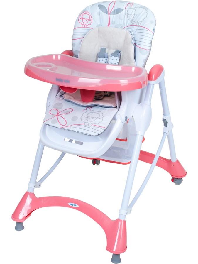 Jídelní židlička Baby Mix pink - růžová