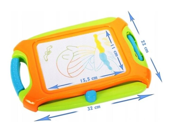 Tulimi Mazací tabulka pro kreslení magnetickým perem, oranžová