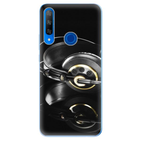 Odolné silikonové pouzdro iSaprio - Headphones 02 - Huawei Honor 9X