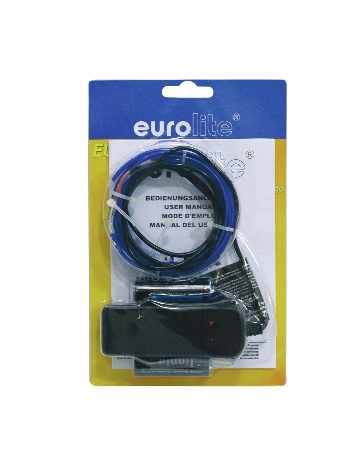 Eurolite neonový provázek 2mm, 2m, modrý