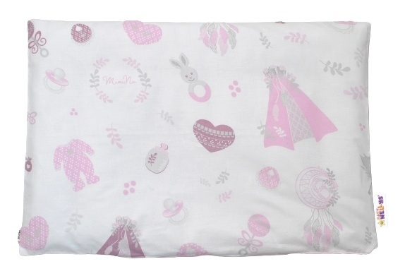 Baby Nellys Povlak na polštářek New Love Baby, 40x60 cm - růžová