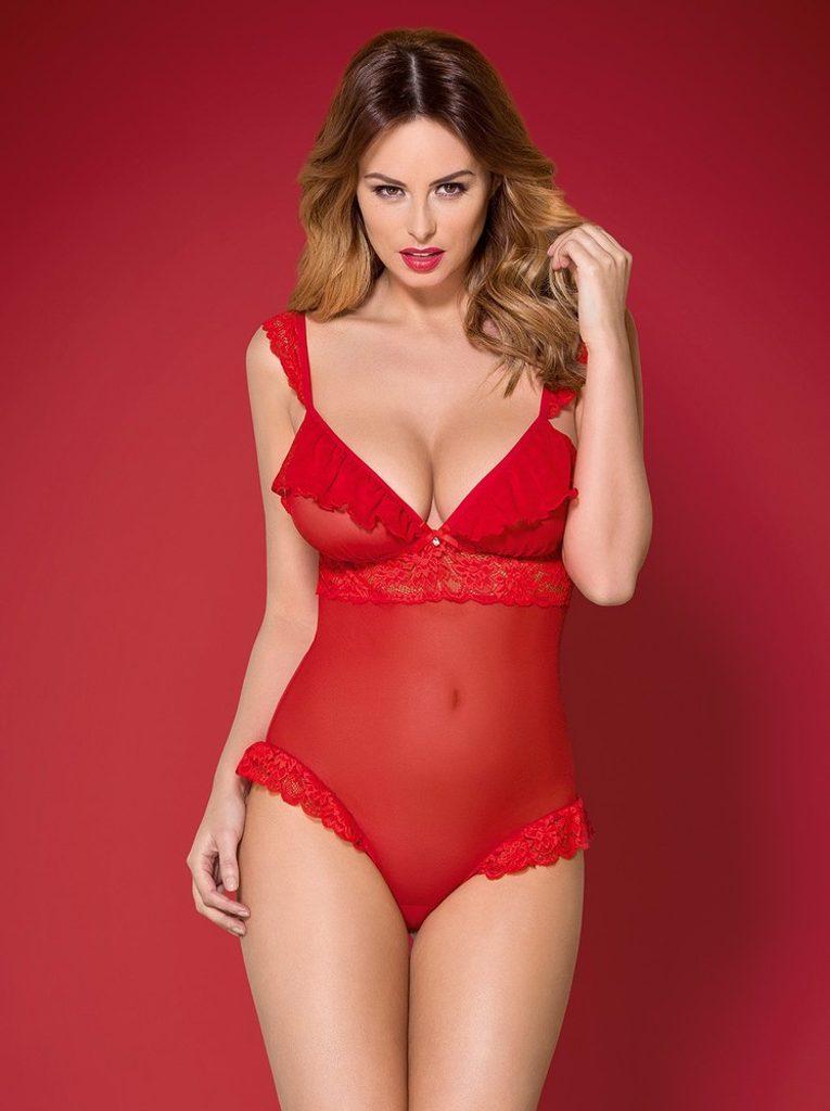 Krásné body Obsessive 863 - TED - Červená - S/M