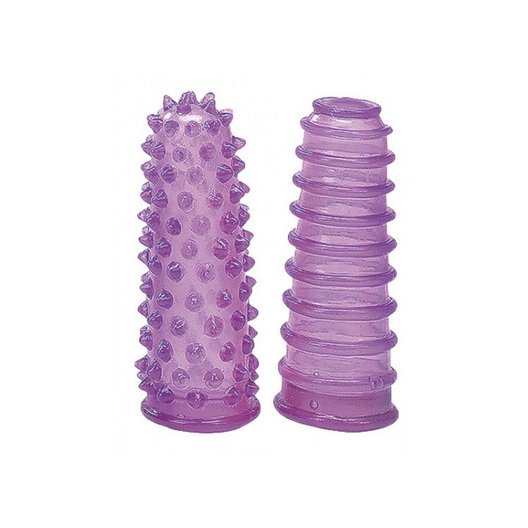 Gelové návleky na prsty - fialové