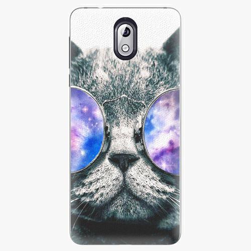 Plastový kryt iSaprio - Galaxy Cat - Nokia 3.1