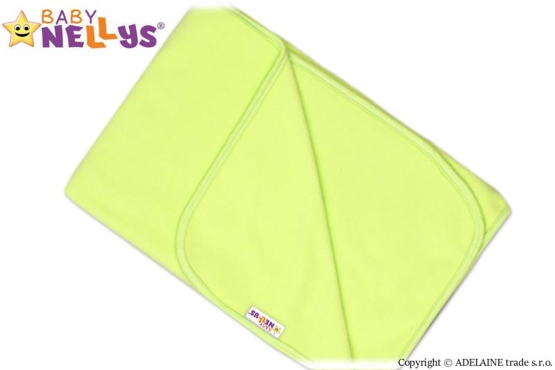 Deka/dečka polar Feel Baby Nellys ® - zelená - 75 x 100 cm