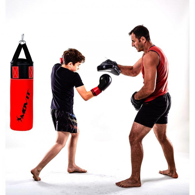 MOVIT Sada boxovacích pytlů pro děti červená/černá