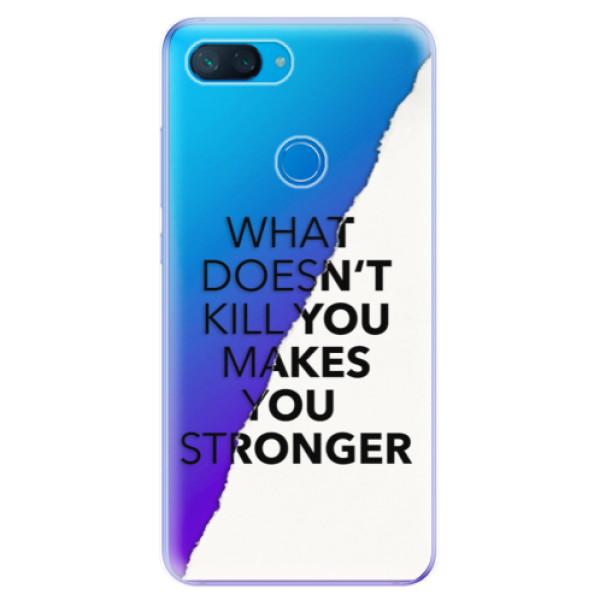 Odolné silikonové pouzdro iSaprio - Makes You Stronger - Xiaomi Mi 8 Lite